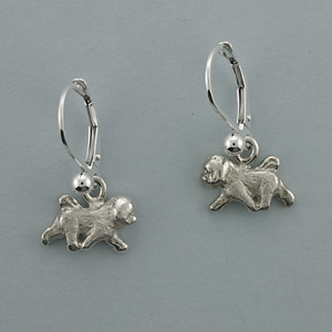 Bichon Frise Earrings - SBICH502