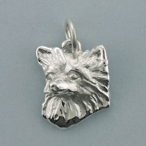 Chihuahua, Long-Haired Pendant - SCHIL500 - Click Image to Close
