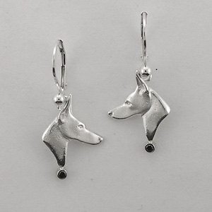Doberman Pinscher Earrings - SDOBE506