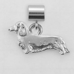 Dachshund, Longhaired Dog Charm - SPAND107