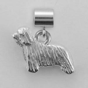 Bearded Collie Dog Charm - SPAND127