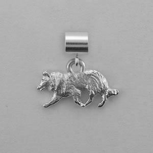 Border Collie Dog Charm - SPAND145