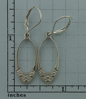 Silver Paws Earrings - SPAW521 - Click Image to Close