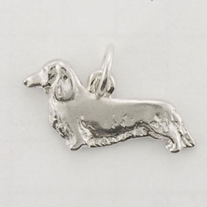 Dachshund, Longhaired Dog Charm - STINY107