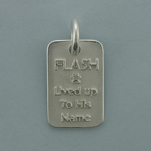 Silver Dog Tags Pendant - SDT507